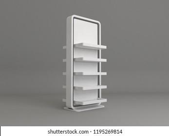 fsu free standing unit 3d render mockup