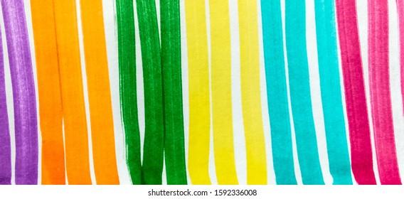 Fuchsia Aqua Bright Juicy Doodle Marker Stripes. Indigo Orange Boho Hand Drawn Stroke. Orange Shibori Brush Lines. Lemon Bright Juicy Doodle Marker Stripes.