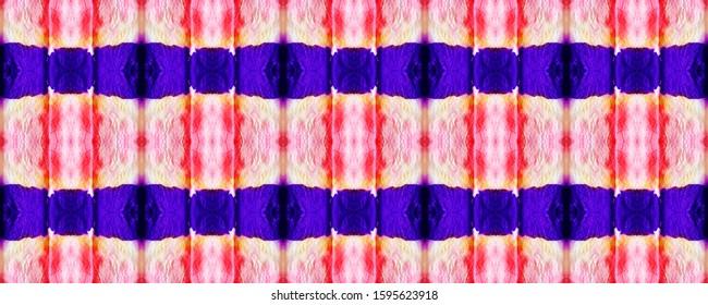 Fuchsia Boho Fashion. Purple Ikat Wallpaper. Indigo Pattern Lines. Magenta Repeat Decoration. Mulberry Zig Zag Design. Stripes Pattern. Shibori Print. Amethyst Dye Faded Fabric.