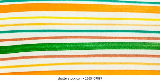 Fuchsia Brown Rainbow Hand Drawn Stroke. Copper Shibori Grunge Lines. Red Paintbrush Hipster Marker Stripes. Green White Paintbrush Hipster Marker Stripes.