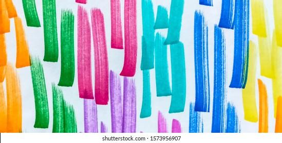 Fuchsia Green Rainbow Hand Drawn Stroke. Lilac Shibori Brush Lines. Brown Energetic Positive Marker Stripes Backdrop. Rose Cinnamon Bright Juicy Doodle Marker Stripes.