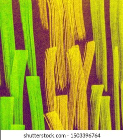 Fuchsia Lavender Bright Juicy Doodle Marker Stripes. Brown Coral Boho Hand Drawn Stroke. Lavender Shibori Pattern Line. Forest Bright Juicy Doodle Marker Stripes.