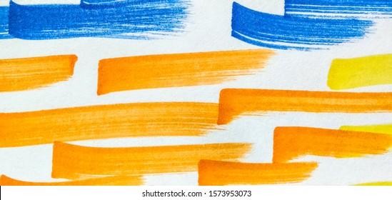 Fuchsia Shibori Pattern Line. Indigo Bright Juicy Doodle Marker Stripes. Red Copper Boho Hand Drawn Stroke. Red Hot Pink Bright Juicy Doodle Marker Stripes.