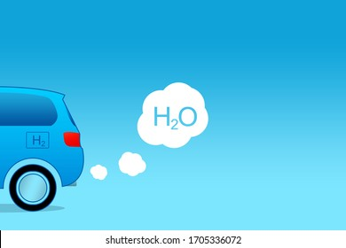 Fuel cell car and water vapor