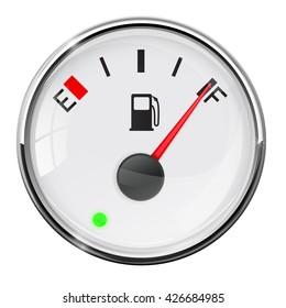 Fuel gauge. Full tank. Illustration on white background. Raster version