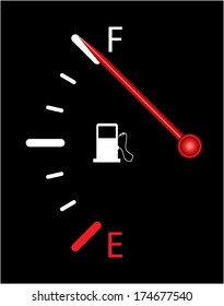 Fuel gauge on black background. More variations available in my portfolio.