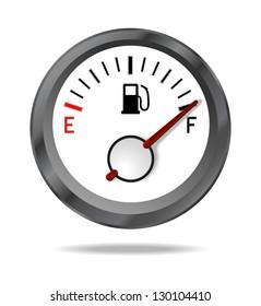 Fuel indicator shows full fuel level, JPEG version