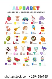 Full Alphabet with atterective animated characters