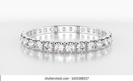 Full eternity ring made of diamonds and platinum.