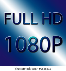 Full HD 1080P in blue effect