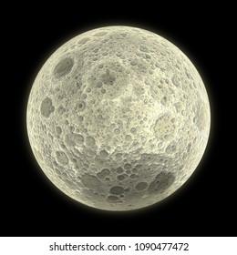 Full moon 3D Illustration