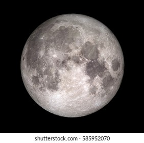 Full moon 3D illustration (Elements of this image furnished by NASA)