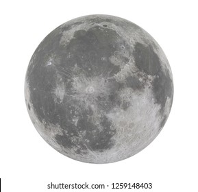 Full Moon Isolated (Elements of this image furnished by NASA). 3D rendering
