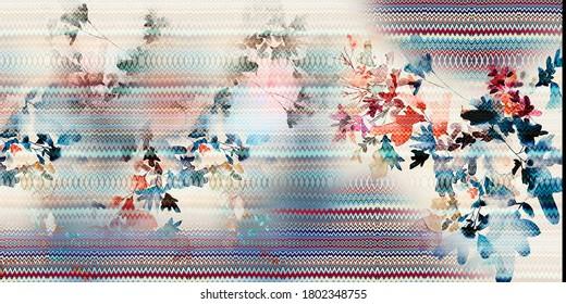 Full Saree Designs For Colorful Digital Printing