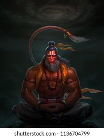 Full size painting of God Hanuman