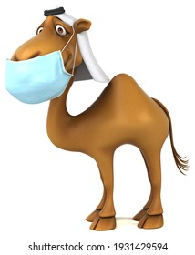 Fun 3D camel with a mask