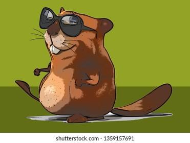 Fun beaver - 3D Illustration