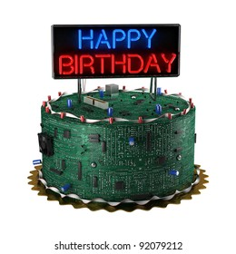 Enjoyable Birthday Cake Computer Images Stock Photos Vectors Shutterstock Funny Birthday Cards Online Barepcheapnameinfo
