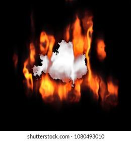 A fun burning hole creative background design.