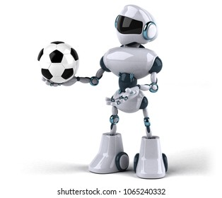 Fun robot - 3D Illustration