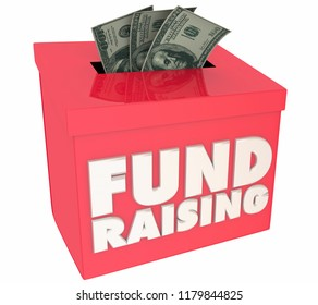 Fund Raising Charities Giving for Good Cause Box 3d Illustration
