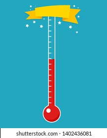 Fundraising thermometer template. Clipart image isolated on white background