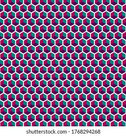 Funky Geometric Colorful Cube Background