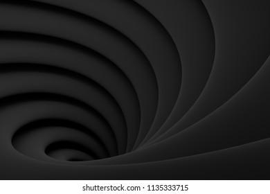 Funnel spiral background Illustration black