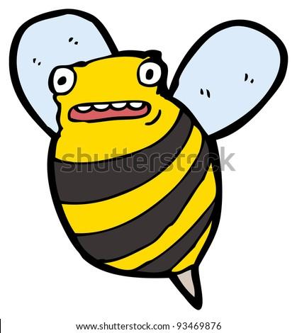 Funny Bee Cartoon Raster Version Stockillustration 93469876