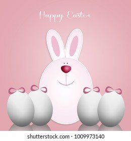 Funny bunny with eggs