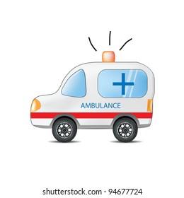 Funny Cartoon Ambulance