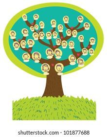 a funny cartoon family tree