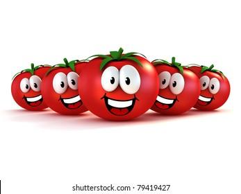 funny cartoon tomatoes