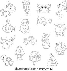funny cartoon unicorn crab kite 260nw