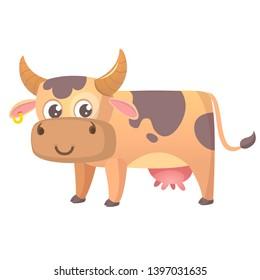 Funny cna cute  cartoon cow illustration