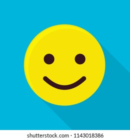 Funny emoticon icon. Flat illustration of funny emoticon icon for web