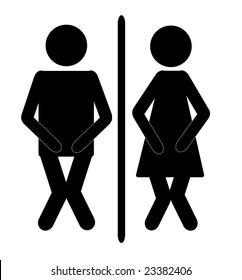Funny Bathroom Signs Görseller Stok Fotoğraflar Ve