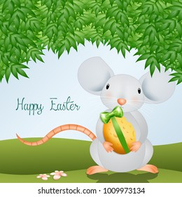 Funny mice with Easter egg