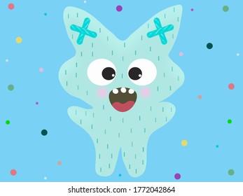 Funny Monster Cat illustration background