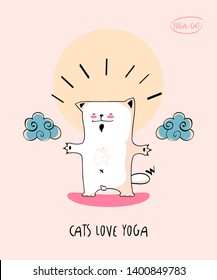Funny pic with Yoga Cat in nirvana