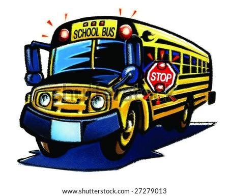 funny school bus stock illustration 27279013 shutterstock rh shutterstock com Large School Bus Clip Art Large School Bus Clip Art