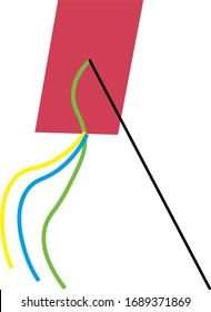 the funny simple kite illustration