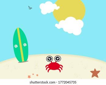 Funny Summer Time Illustration Image