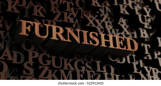 Furnished - Wooden 3D rendered letters/message.  Can be used for an online banner ad or a print postcard.