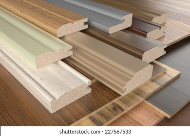 Furniture profiles with chipboards