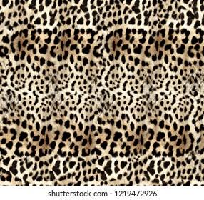 furry yellow leopard pattern