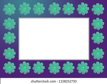 Fusion flower photo frame