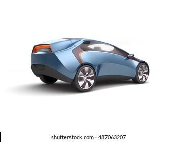 Future electric concept car. 3d rendering