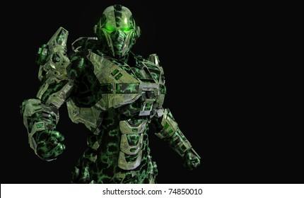 Future soldier in advanced armor