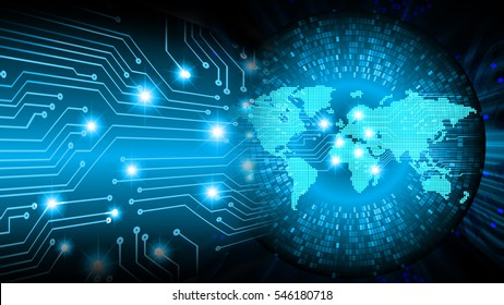future technology, blue cyber security concept background, abstract hi speed digital internet.motion move blur. pixel. world